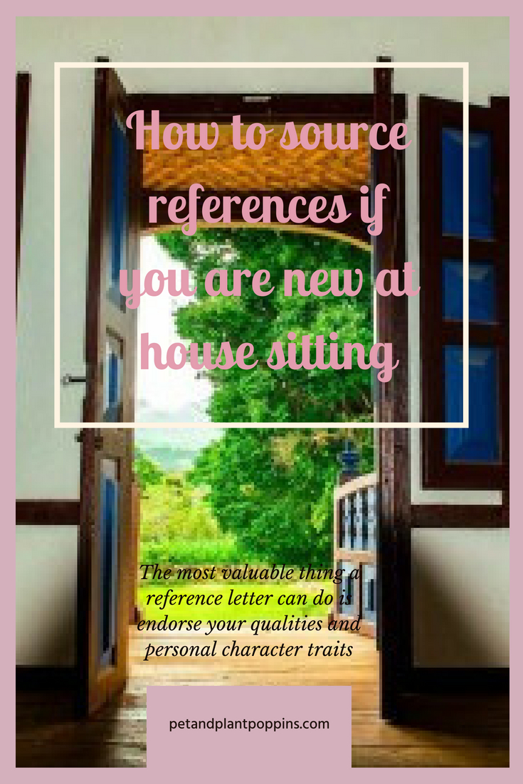 How to source references if you are new at house sitting pintrest cover