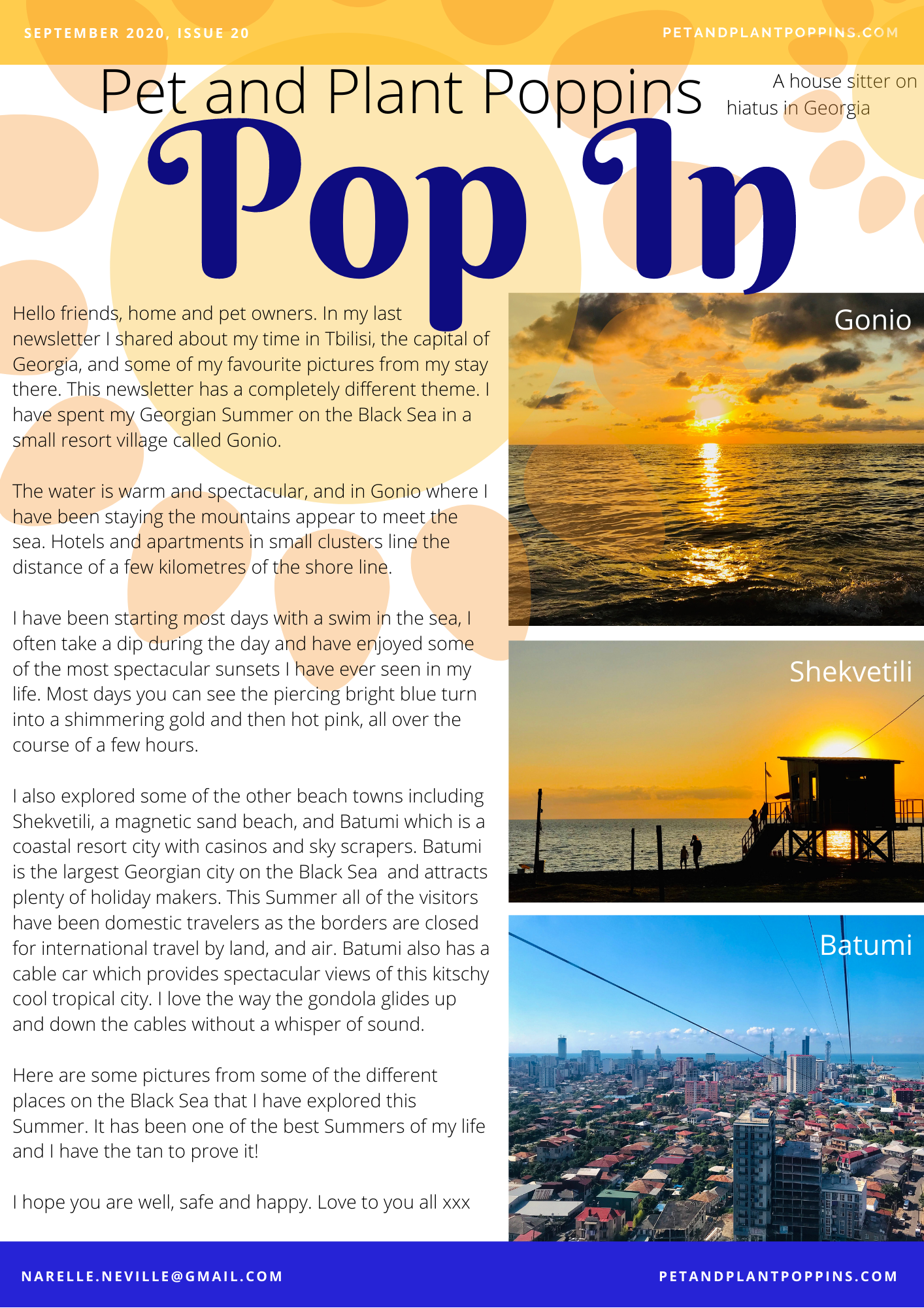 PPP Newsletter September 2020 page 1