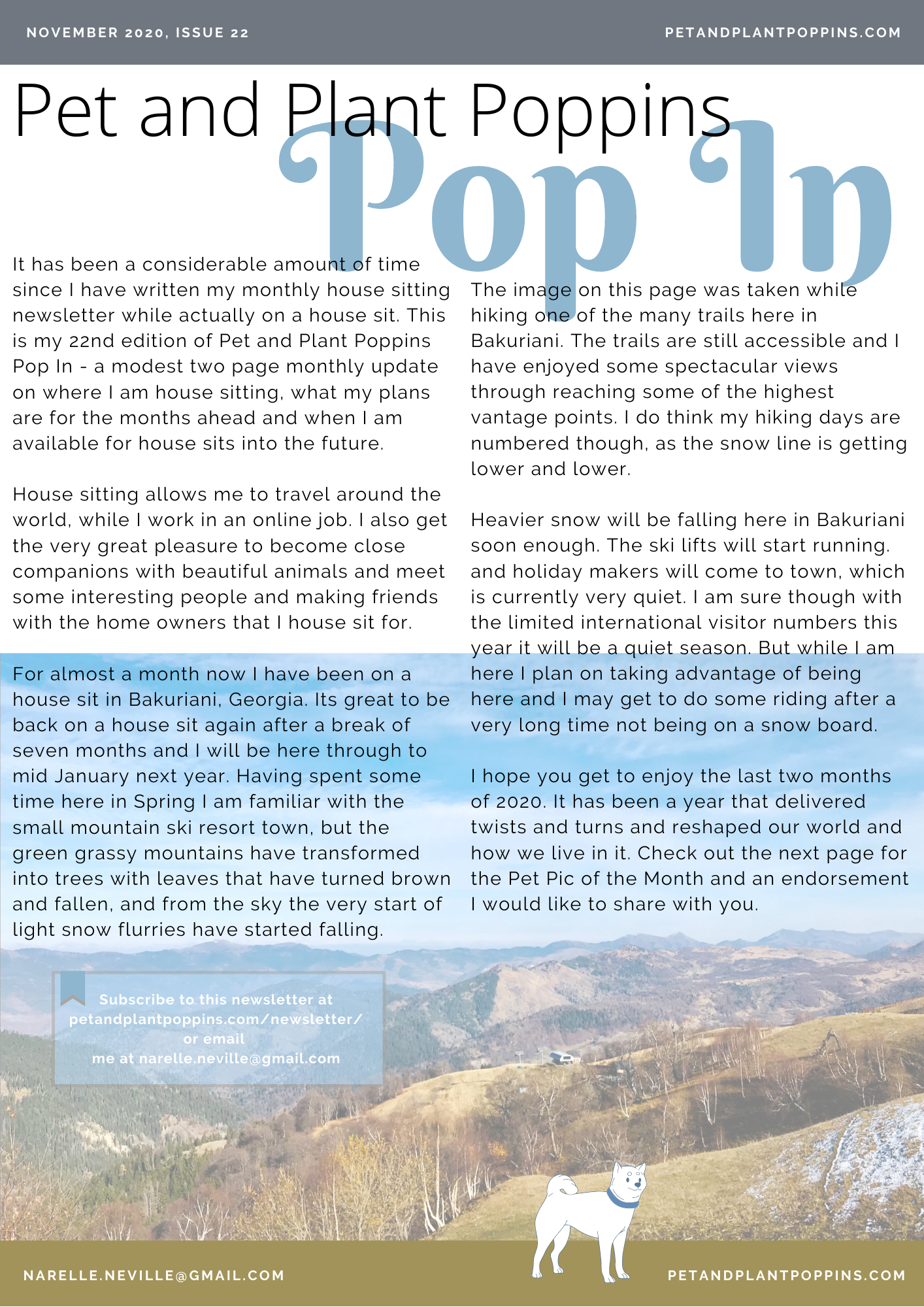 PPP Newsletter November 2020 page 1